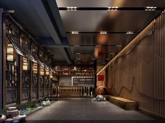 新中式火鍋店 餐桌椅 吊燈