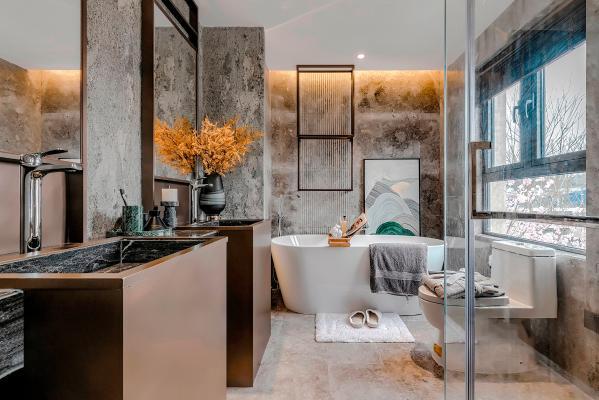 现代卫生间 浴缸