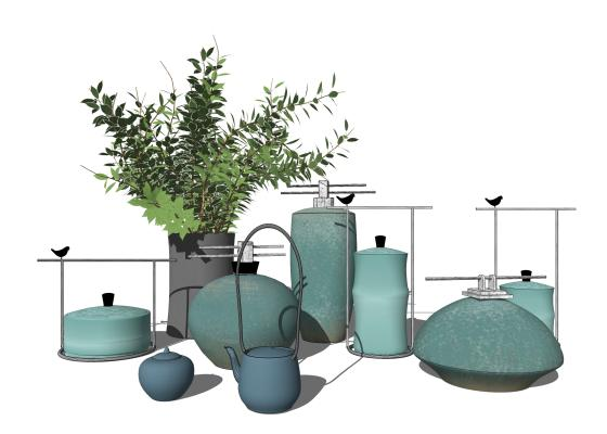 新中式风格茶壶 花瓶