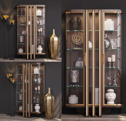 新中式装饰柜架