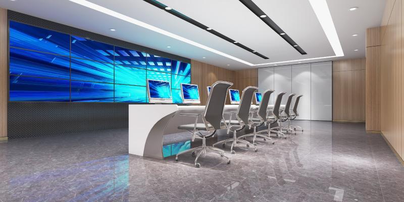 现代监控室