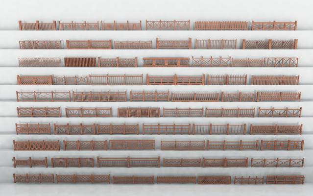 中式木围栏木栏杆木栅栏