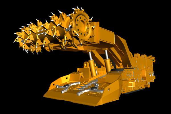 现代采煤连采机