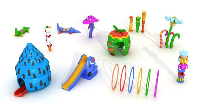現代益智玩具 動物玩具 小滑梯