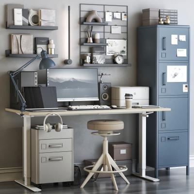 现代书桌椅 写字台 椅子 橱柜