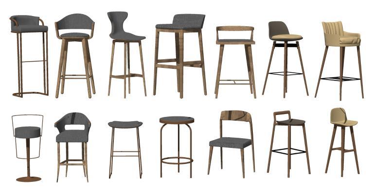 现代吧椅 高脚凳