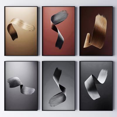 现代轻奢抽象装饰画 抽象画 艺术画