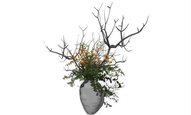 新中式盆栽 植物 绿植