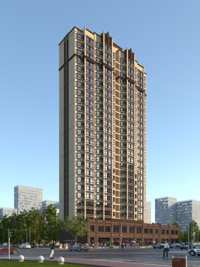 欧式风格住宅区 高层住宅楼
