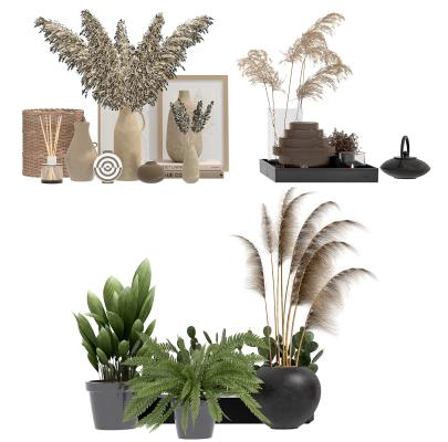 现代植物 盆栽 装饰品 摆件