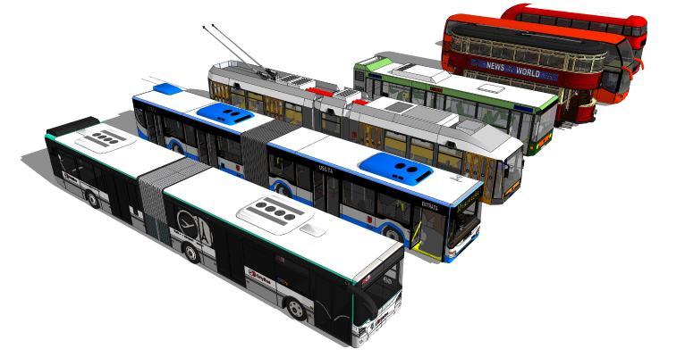 現代雙層公交車 汽車 班車