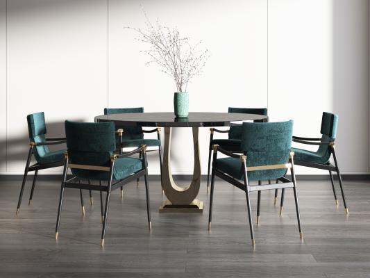 新中式餐桌,新中式餐厅,新中式包厢,时尚餐桌,
