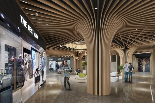 现代商场走廊过道