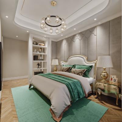 后现代卧室 床