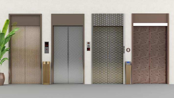 现代电梯门组合