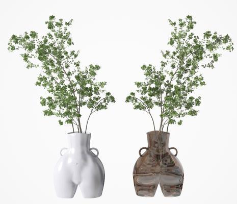 现代创意植物盆栽组合