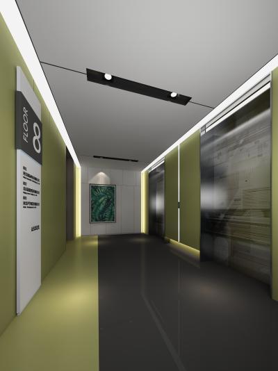 现代办公空间电梯