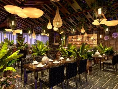 东南亚风格餐厅 宴会厅