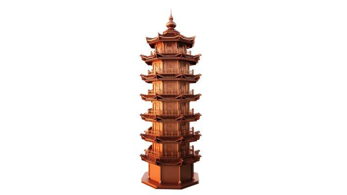中式七层宝塔