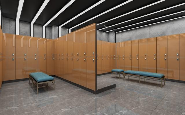 现代健身房 更衣室