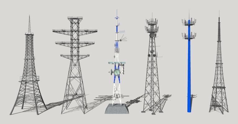现代信号塔 高压电塔 通讯塔