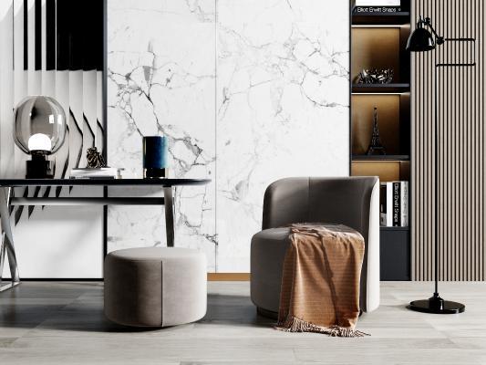 现代休闲沙发 凳子 装饰品 装饰柜