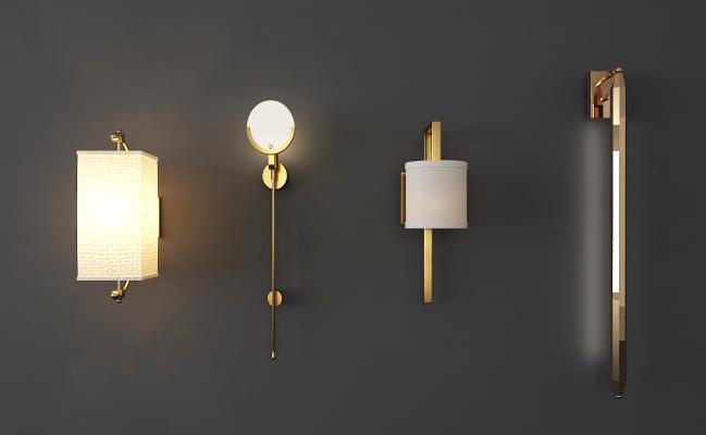 新中式壁灯组合
