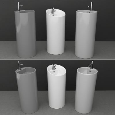 现代立式洗手盆