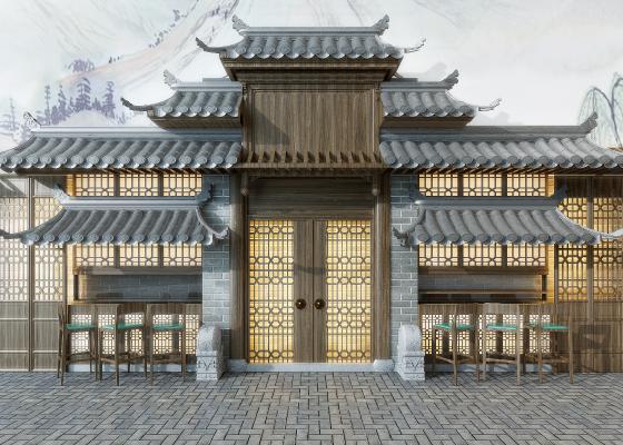 中式门面 门头