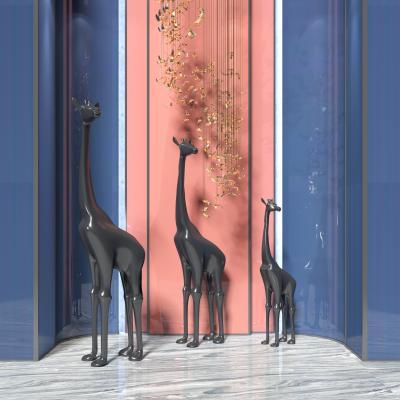 现代长颈鹿雕塑 装饰品