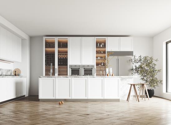 现代厨房 岛台 橱柜