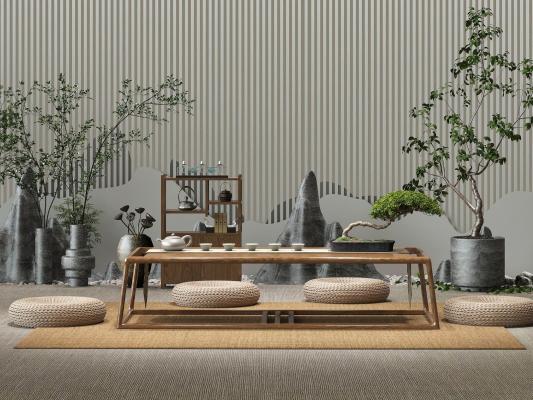 新中式茶桌组合