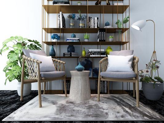 现代休闲椅 装饰架 摆件