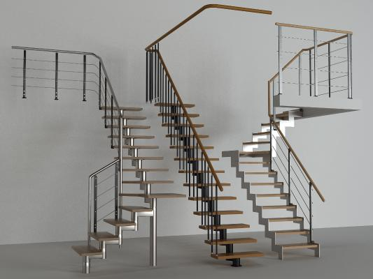 现代楼梯 栏杆