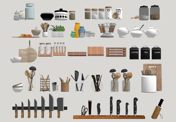 现代厨具 餐具 挂件