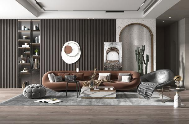 现代轻奢风格客厅