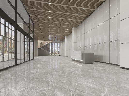 现代办公前台 大堂