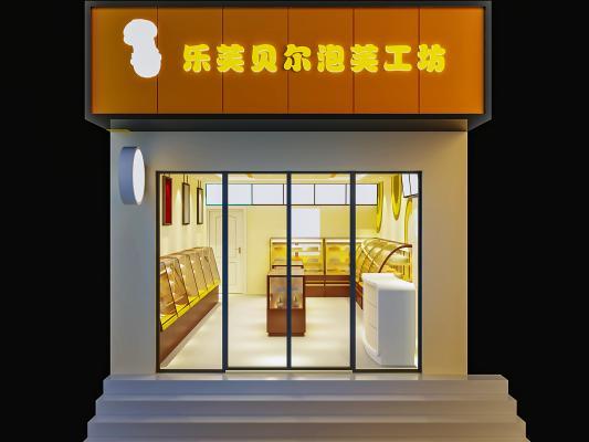 现代甜品面包店 门头