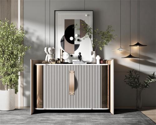 現代風格邊柜,墻飾,飾品擺件