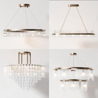 现代水晶吊灯组合