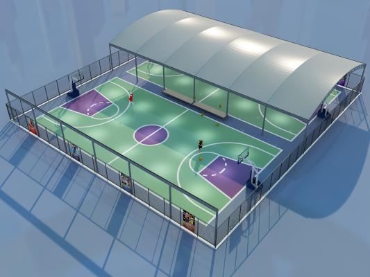 现代篮球场