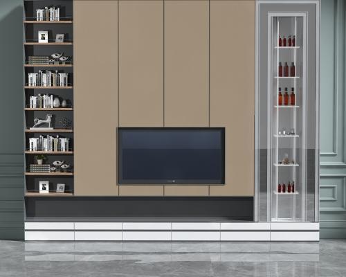 现代电视机柜组合