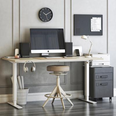现代书桌椅 办公用品 电脑显示器
