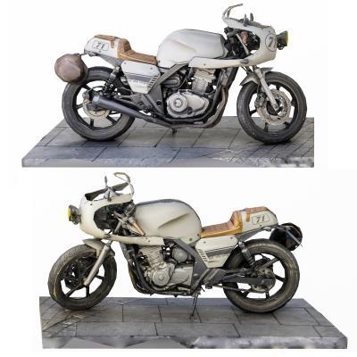 现代本田复古摩托车