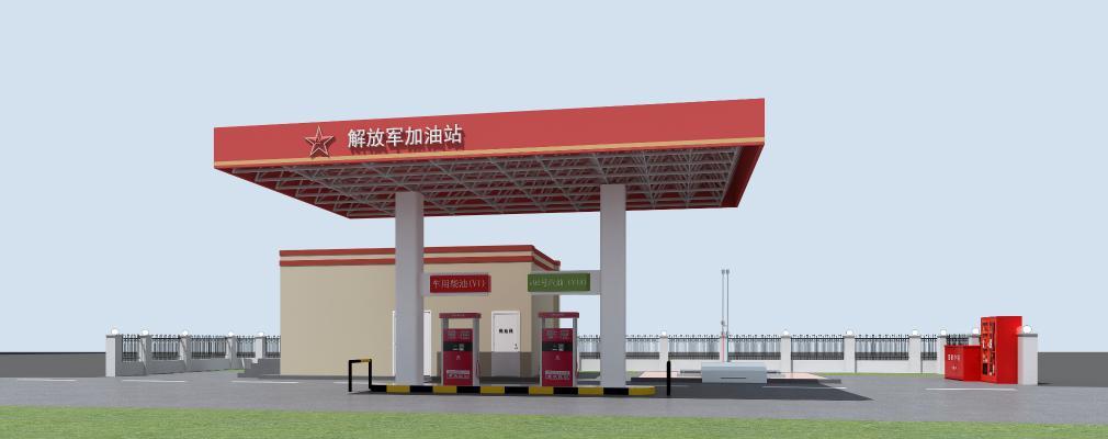 现代加油站 加油箱 储备箱