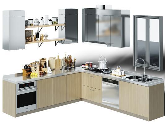 現代廚房櫥柜 廚具 裝飾品