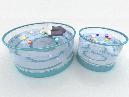 现代风格婴儿游泳池