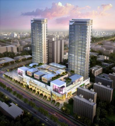 现代风格商业区 商业综合体 高层办公楼