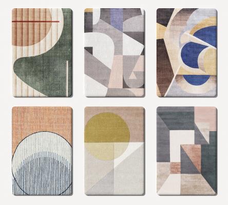 现代轻奢地毯 圆形地毯 圆毯