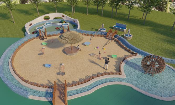 现代儿童游乐园